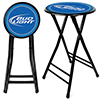 Bud Light 24 Inch Cushioned Folding Stool - Black