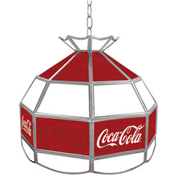 Coca Cola Vintage 16 Inch Stained Billiard Lamp