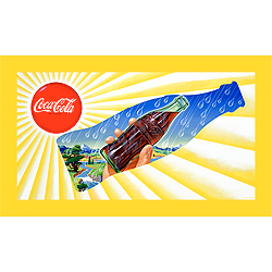 Sun & Rain Coke Bottle - 15x28 Inch Stretched Canvas Print