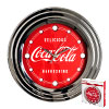 Coca-Cola Clock w/ Chrome Finish Delicious Style 12 inch