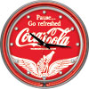 Wings Coca Cola Neon Clock - Two Neon Rings