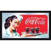 Coca-Cola Vintage Mirror Horizontal Waitress w/ Coke
