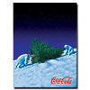 Coke Polar Bears with Christmas Tree  - 18 x 24 Inches