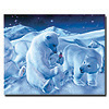 Coke Polar Bear Sitting w/ Cub and Bottle  - 19 x 24 Inches