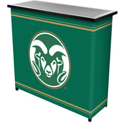 Colorado State™ 2 Shelf Portable Bar w/ Case