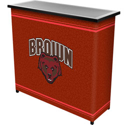 Brown University™ 2 Shelf Portable Bar w/ Case