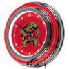 Maryland University Chrome Double Rung Neon Clock