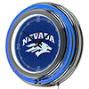 University of Nevada Chrome Double Ring Neon Clock