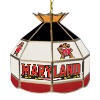 Maryland University 16 Inch Handmade Stained Glass Lamp