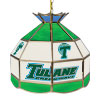 Tulane University Stained Glass Billiard Lamp - 16 Inch