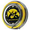 University of Iowa Neon Clock - 14 inch Diameter
