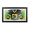 University of Iowa Football Framed Jersey Mirror