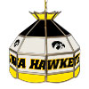 University of Iowa Stained Glass Billiard Lamp - 16 Inch