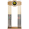 University of Iowa Wood and Mirror Wall Cue Rack