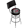 The Ohio State University Padded Bar Stool/Back-Black - Made In USA