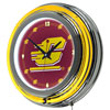 Central Michigan University Neon Clock - 14 Inch Diameter
