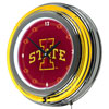 Iowa State University Neon Clock - 14 Inch Diameter