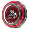 Mississippi State University Neon Clock - 14 inch Diameter