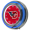 University of Dayton Neon Clock - 14 Inch Diameter
