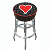 Four Aces Heart Logo Padded Bar Stool - Made In USA