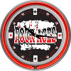 Four Aces Neon Clock - 14 inch Diameter