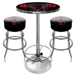 Hunt Skull Gameroom Combo - 2 Bar Stools and Table