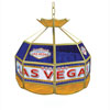 Las Vegas Stained Glass Billiard Lamp - 16 Inch Diameter