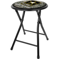 U.S. Army Digital Camo 18 Inch Folding Stool - Black
