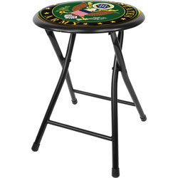 U.S. Army Symbol 18 Inch Folding Stool - Black
