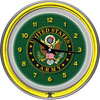 U.S. Army Symbol Chrome Double Ring Neon Clock