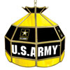 U.S. Army 16 Inch Stained Glass Lamp