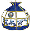 United States Navy Stained Glass Billiard Lamp - 16 Inches