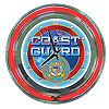 United States Coast Guard Neon Clock - 14 inch Diameter