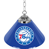 Philadelphia 76ers NBA Single Shade Bar Lamp - 14 inch