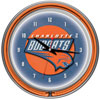 Charlotte Bobcats NBA Chrome Double Ring Neon Clock
