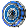 Dallas Mavericks NBA Chrome Double Ring Neon Clock