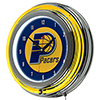 Indiana Pacers NBA Chrome Double Ring Neon Clock