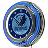 Memphis Grizzlies NBA Chrome Double Ring Neon Clock