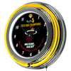 Miami Heat 2013 NBA Champions Chrome Neon Clock