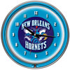 New Orleans Hornets NBA Chrome Double Ring Neon Clock