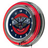 New Orleans Pelicans NBA Chrome Double Ring Neon Clock
