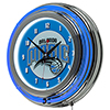 Orlando Magic NBA Chrome Double Ring Neon Clock