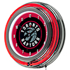 Toronto Raptors NBA Chrome Double Ring Neon Clock