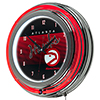 Atlanta Hawks Hardwood Classics NBA Chrome Neon Clock