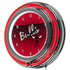 Chicago Bulls Hardwood Classics NBA Chrome Neon Clock
