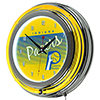 Indiana Pacers Hardwood Classics NBA Chrome Neon Clock