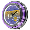 Los Angeles Lakers Hardwood Classics NBA Chrome Neon Clock
