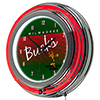 Milwaukee Bucks Hardwood Classics NBA Chrome Neon Clock