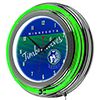 Minnesota Timberwolves Hardwood Classics NBA Chrome Neon Clock