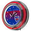 New Jersey Nets Hardwood Classics NBA Chrome Neon Clock
